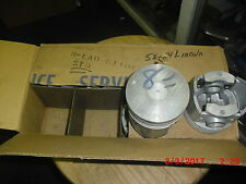 1952-54 Lincoln Continental NOS FACTORY FORD STANDARD 317 Pistons EAD-6108-A