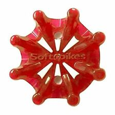 Softspikes Pulsar Tour Lock Cleat - One Replacement Set - Red, 18-Count, New