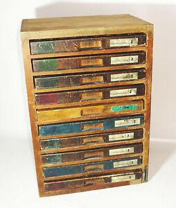 Beautiful Vintage Drawer Cabinet 33, 5x23x49 CM Industry Design Loft Watchmaker