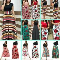 Summer maxi dress short sleeve dresses Cocktail evening party Womens floral long