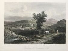 1845 Antique Print; Bandirran and Dunsinane Hill, Perthshire after William Brown