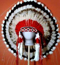 Native American AMERICAN HERITAGE War Bonnet Feather Headdress