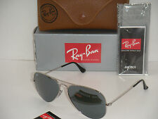 Ray Ban Aviator SUNGLASSES RB 3025 W3227 silver Frame SILVER MIRROR FLASH LENS