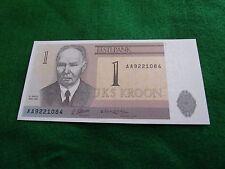 ESTONIA ESTONIA Ticket 1 KROON UNC NEW