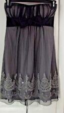 TEASE ME Strapless DRESS -Size Medium- Black Sweetheart Neckline  Bead Accents L
