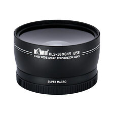 KIWI 58mm 0.45xWide Angle &Macro Conversion Lens with 62mm Front Thread+Caps+Bag