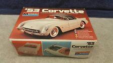 Vintage 1980's Monogram '53 Corvette Plastic Model Kit 1:24 Scale Boxed