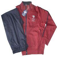 TUTA UOMO felpa leggera M L XL XXL XXXL giacca aperta zip rosso Be Board