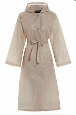 Womens Ladies Long Kagool KAG Ladies Water Resistant Showerproof Belted Mac Coat Beige SUPERMAC Size 20 UK