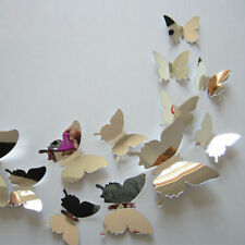 Wall Stickers Decal Beautiful Butterflies 3D Mirror Wall Art Home Decors
