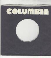 COMPANY SLEEVE 45-  COLUMBIA RECORDS- BLACK AND WHITE SLEEVE