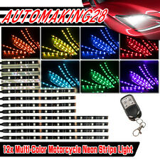 12x H.D Led Neon Under Glow Lights Strip Kit For All Harley Davidson Motorcycles