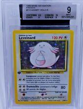 French Chansey Leveinard 1st Ed Edition BGS 9 Base Set Pokemon Holo MINT