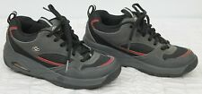 Heelys Skate Shoes Kids sz 6 Style #7106 Boys Black/Grey Wheels Red Trim Lace u
