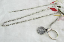 Vintage 925 Sterling Silver Pocket Watch Chain - with Ottoman Coin Ornament