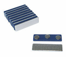Strong Magnetic Name Badge ID Holder w/ Plastic Fastener (10 Sets/Pairs) (Blue)