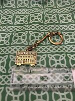 Vintage Bank Americard Gold Tone Banking Keychain FREE SHIPPING
