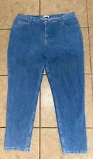 Women's Relaxed Riders by Lee Size 20W M Relaxed Straight Leg Blue Denim Jeans