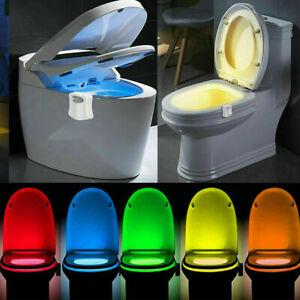 Colourful Sensing Motion Activated LED Toilet Lightbowl Night Lamp UK Seller