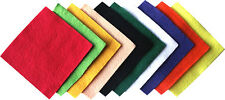 "4"" Assorted Mixed Felt Squares - 10 Sheets"