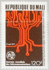 MALI 1977 584 279 World Telecommunicaiton Day ITU Emblem Electronic Tree MNH