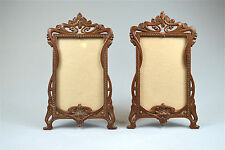 Original pair of Art Nouveau metal photograph frames photo frame Paris EJB