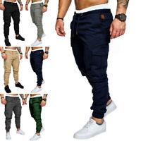 2019 Men's Slim Fit Urban Straight Leg Trousers Casual Pencil Jogger Cargo Pants