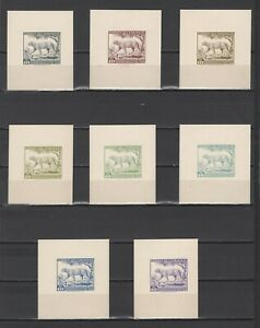++ 1961 Fauna 10 Nominal in Different Colour Thick Paper