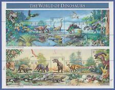 USA 1997 Dinosaurier Prähistorische Tiere Mi.-Nr. 2814-28 15 Werte im ZD-Bogen