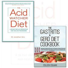 Gastritis & GERD Diet Cookbook and Acid Watcher Diet 2 Books Collection Set NEW