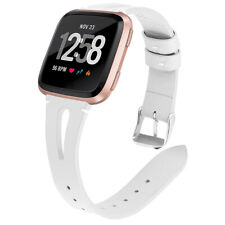 Fashion Slim Genuine Leather Watch Band Strap Wrist Bracelet For Fitbit Versa