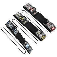 NEW Soft Strap Embroidered Pattern Belt For Electric Guitars Bass Accessory