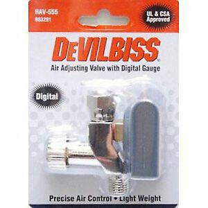 DeVILBISS ⭐ HAV-555 Air Adjusting Valve with Digital Gauge ⭐ NEW ⭐