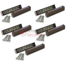 Pack of 5 Burglar Alarm Surface Door Contact Detector Wired - BROWN