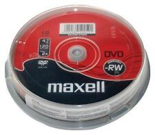 MAXELL DVD-RW 10 Pack Spindle 1-6x SPEED 4.7gb 120 minuti