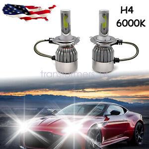 COB H4 LED Headlight Kit Light Bulbs High Low Beam 6000K HB2 9003 2600W 390000LM