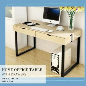Contemporary Minimalist Home Office Table for Sale in Ash Color