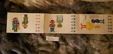 Vintage Sesame Street Paper Finger Puppets 1978