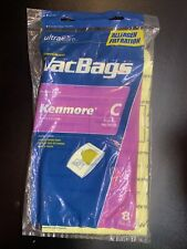 8 Utra Care Premium Vac Bags Allergen Filtration Fits Kenmore C Factory Sealed
