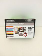 DuraHook Locking Pegboard System 26 Piece Kit Hook & Bin Wall Storage Organizer