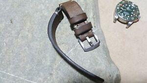 Handmade watch strap  genuine leather for Rolex Deepsea Sea-Dweller