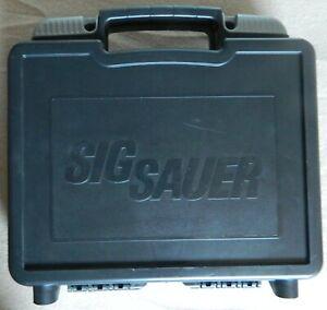 🔴 Original SIG SAUER SIG ARMS PISTOL CASE/BOX BLACK for Swiss P226 LEGION