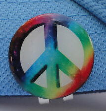 Tie-Dye Peace Sign Golf Ball Marker w/Magnetic Hat Clip