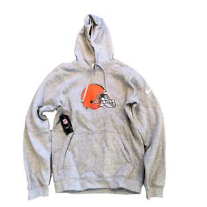 NWT New Cleveland Browns Nike Logo Fleece Small Hoodie Sweatshirt