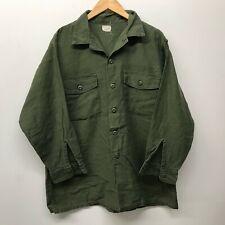 Vintage OG107 Fatigue Shirt, 17 1/2 x 32 US Army 1960's-1970's J-59