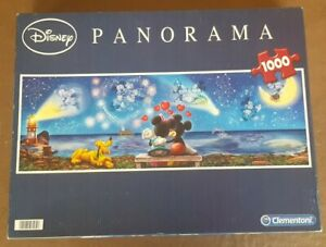 JIGSAW Disney MICKEY & MINNIE MOUSE Panorama Puzzle 1000 Piece Checked COMPLETE