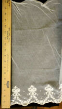 "Vintage/Antique White Embroidery Net Lace 36"" X 21"""