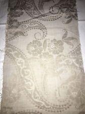 Tissu ancien, toile à matelas  larg 26 cm x H 240 cm, ref 725
