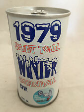 1979 St Paul Winter Carnival August Schell Brewing Steel Beer Can Bottom Opened