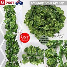12x 2M Artificial Ivy Vine Watermelon Foliage Hanging Leaf Garland Plant Party H
